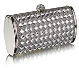 Womens Designer Sparkly Crystal Evening Hard Case Clutch Ladies Prom Party Handbag