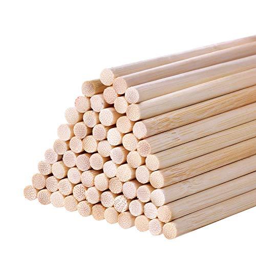BOSSTER Bastoncini di Legno 100 Pezzi Bastoncini Rotondi 20 * 0.5cm Incompiuto Bastoncini per l'artigianato DIY Fabbricazione di Modelli per Bambini Giocattoli Educativi