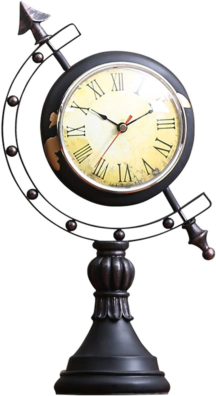 DQMSB Globe Pendulum Clock Decoration Home Decoration Decorations American TV Cabinet Decoration 40cm12cm