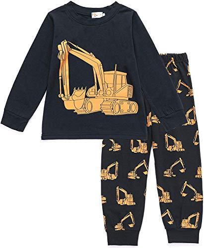 Tarkis Jungen Pyjama Schlafanzüge Lange Zweiteiliger Schlafanzug, 1, 92  (Herstellergröße: 90)