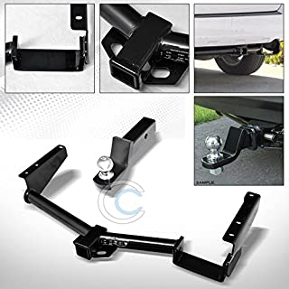 HS Power Black Finished Class 3 Trailer Hitch Loaded Ball Bumper Tow Kit 2
