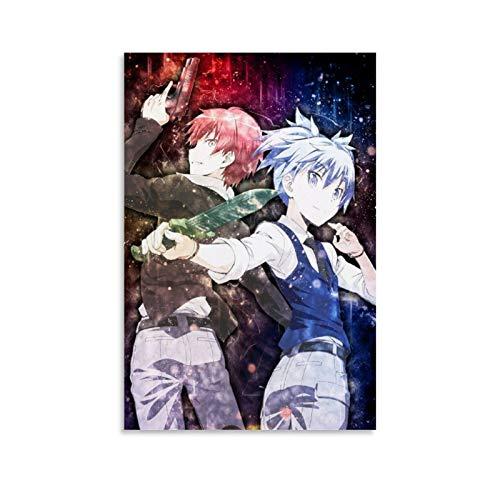 yanhony Póster de anime de Akabane Karma y Nagisa Shiota de Assassination Classroom - Lienzo decorativo para pared (30 x 45 cm)