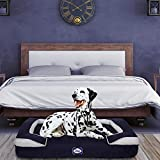 Sealy Dog Bed Embrace | Crushed Memory and Orthopedic Foam bolstered Dog Bed, Extra Large Navy (94529)
