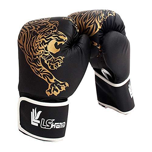 qq Guantes de boxeo para entrenamiento de piel para adultos y niños...