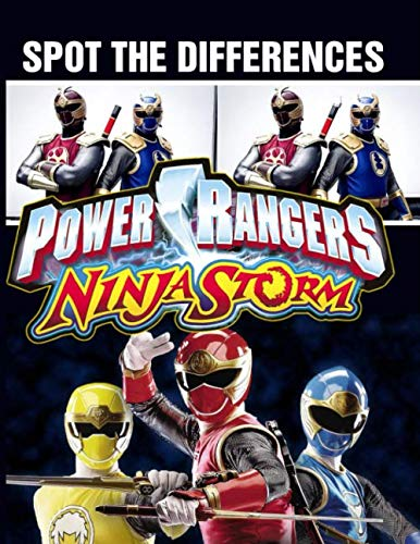 Power Ranger Ninja Storm Spot The Difference: Excellent Power Ranger Ninja Storm Activity How Many Differences Books For Adults, Teenagers