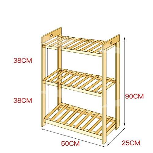 MGER Flower Stand, Indoor Flower Stand Ladder - Balkon Stijl Bloemenstandaard Woonkamer Effen Hout Om Houten Outdoor Bloemenstandaard los te maken