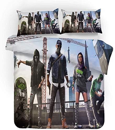XZHYMJ Bedding Sets for Children Game 3D Bedding Sets Duvet Covers Pillowcases 3-Piece Microfibre Duvet Cover with Zip Set Renforcé Cotton Single Person Boy b 220 x 240 cm-K_220 x 240 cm