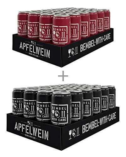 BEMBEL WITH CARE Apfelwein-Pur (24 x 500 ml) + Apfelwein-Kirsche (24 x 500 ml)