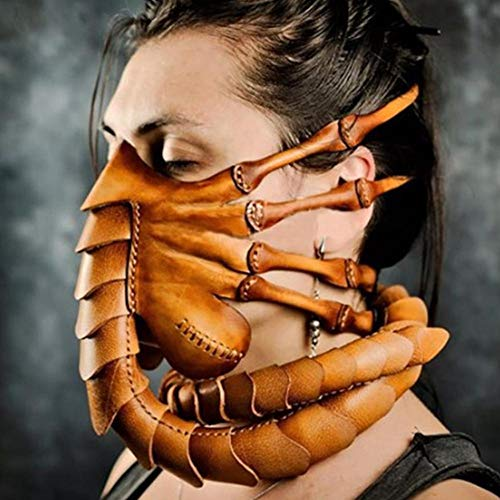 Ginkago Halloween Cosplay Maske, Erwachsene Facehugger Latex Vollgesicht Fancy Dress Kostüm Scary Verkleidung Masks