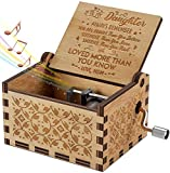 Engraved Music Box - Christmas Gift- You are My Sunshine, Gift for Daughter from Mom - You Are Stronger Than You Seem, Smarter Than You Think - From Mom