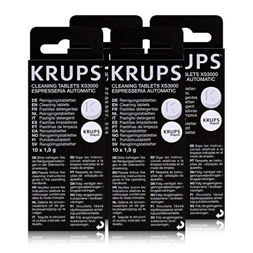 4 KRUPS Reinigungstabletten XS3000