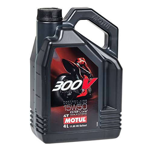 Motul 104129 300V 4T Factory Line Road Racing, 15 W-50, 4 L