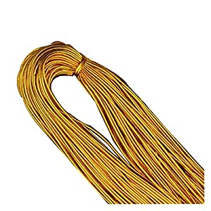HLWJ Golden Yellow Twine Rope + DIY Jewelry Accessories Bracelet Lace Earrings (Color : Black)