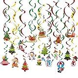 Colgante de decoración de Navidad, 36 Piezas Serpentinas Navidad...