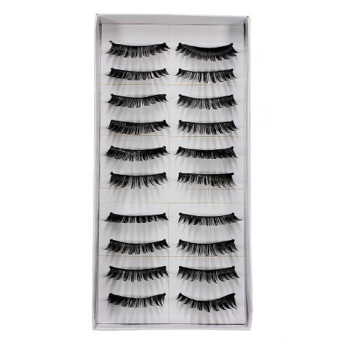 20 Pairs Natural Makeup False Fake Eyelash Eye Lashes (thick) by A4TECH