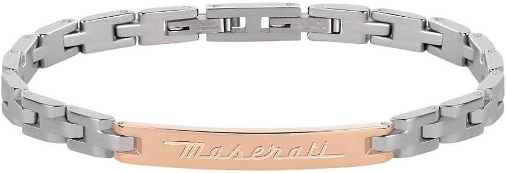 Maserati collezione jewels bracciale da uomo in acciaio JM218AMF09