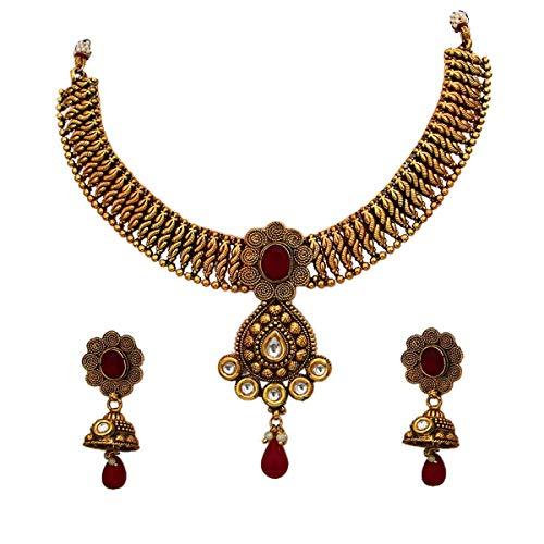 JewelryOnClick Público profesional. Personas consumidores chapado en oro-cobre Ónice rojo
