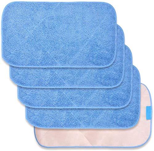 Panno in microfibra per la ricarica del panno per MR. SIGA Professional Microfiber Mop, può essere usato su entrambi i lati, bagnato e asciutto, confezione da 5