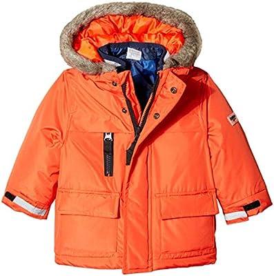 Osh Kosh Boys' Toddler 4-in-1 Heavyweight Systems Jacket Coat, Orange/Blue Print, 3T