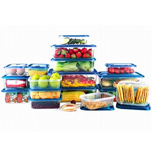 XXLCJ voorraaddozen voor levensmiddelen 17 stuks plastic voedsel bewaardozen met deksel gesloten voorraaddozen kit voor de keuken