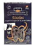 QCHEFS SIZZLES |Hunde Zahnpflege-Snack| Leckerli Training| gegen Mundgeruch & Zahnfleischentzündung| Zahnsteinentferner|Kausticks klein& trocken |Kaustreifen| Hüttenkäse – natürlich antibakteriell