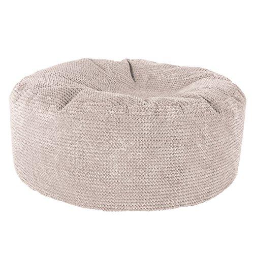 Lounge Pug®, Sitzhocker Pouf, Sitzpouf, Pom-Pom Creme