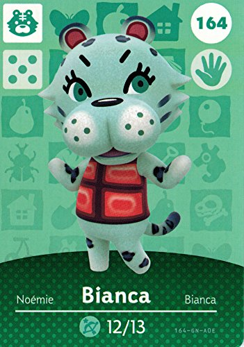 Nintendo Animal Crossing Happy Home Designer Amiibo Card Bianca 164/200 USA Version