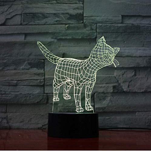 Mignon chat Kitty lampe 7 couleurs changeant veilleuse atmosphère lumière 3D humeur tactile lampe décor à la maison