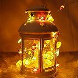Guirnalda de luces 3D de arces de calabaza, bellotas, decoración de otoño, 10 pies, 30 LED, blanco cálido, con pilas, guirnalda de otoño con luces, otoño, Halloween, acción de gracias, fiesta en casa