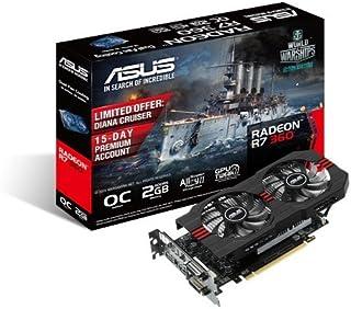 Asus AMD Radeon R7 360 GDDR 5グラフィックスカード(2 GB、PCI Express 3.0、HDMI、DVI-I、DVI-D、ディスプレイポート)