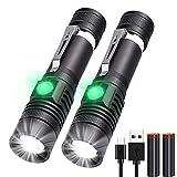 Karrong LED Taschenlampe USB Aufladbar (mit 18650 Akku) Extrem Hell Zoom Wasserdicht Taschenlampen mit 4 Modi für Outdoor Camping Wandern Notfall