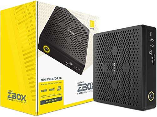 ZOTAC ZBOX Magnus EN52060V Barebone 2 x DDR4 2666/2400 SODIMM Slot max 32GB M.2 SSD PCIE x4 SATA III SSD Slot Intel i5-9300H