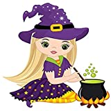DIY 5D Diamond Painting Kits Little Witch Cute Cooking Magic Potion in Cauldron Halloween 16x16 inch Full Drill Painting Arts Craft Canvas for Home Wall Decor Full Drill Cross Stitch Gift