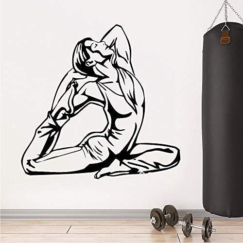 AQjept Apliques de Fitness decoración Pegatinas de Pared de Moda decoración de Gimnasio Pegatinas de Pared Dibujos Animados Pared de Vidrio Liso Metal Madera y Otros patrones28x28cm