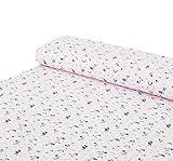 Nadeltraum Baumwoll - Jersey Stoff Tucan Vogel rosa -