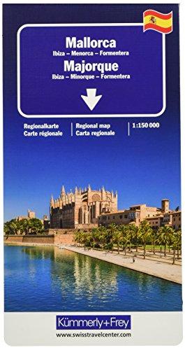 Mallorca, Ibiza, Menorca, Formentera Regionalkarte 1:150 000 (Kümmerly+Frey Reisekarten)