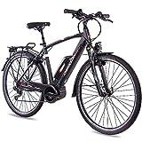 CHRISSON 28 Zoll Herren Trekking- und City-E-Bike - E-Rounder schwarz matt - Elektro Fahrrad Herren  auf elektro-fahrzeug-kaufen.de ansehen