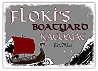 Floki Boatyard メタルポスター壁画ショップ看板ショップ看板表示板金属板ブリキ看板情報防水装飾レストラン日本食料品店カフェ旅行用品誕生日新年クリスマスパーティーギフト