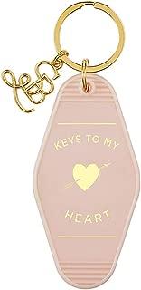 Valentine's Day Pink Keys to My Heart Vintage Motel Key Tag, 3 1/2 Inch