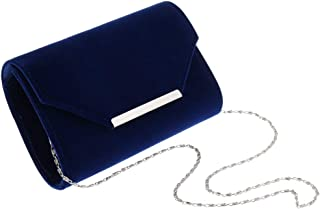 FITYLE Women's Faux Leather Envelope Clutch Bag Evening Hand Bag with Chain Strap