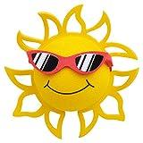 Coolballs California Sunshine w Sunglasses Car Antenna Topper/Auto Mirror Dangler/Desktop Bobble Buddy (Red Sunglasses) (Cute Car Accessory)