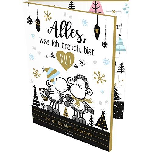 Sheepworld 49825 Partner-Adventskalender Alles was ich brauche bist du, 150 g