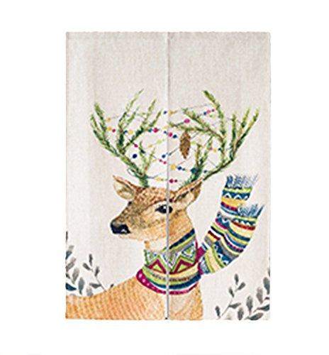 ICEGREY linnen Doorway gordijn Japanse nerven panelen Elk deurgordijn met trekstangen 85x120cm
