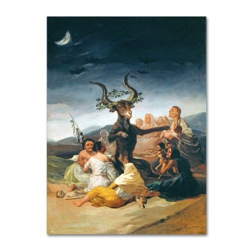 The Witches' Sabbath 1797-98 Artwork by Francisco Goya, 35 by 47-Inch Canvas Wall Art