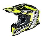 Just 1 Helmets - Casco Motocross J12, Giallo/Nero, XL