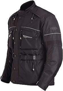 Bilt Storm Waterproof Protective CE Armor Removable Fleece Liner Adventure Touring Motorcycle Rain Jacket - Black SM