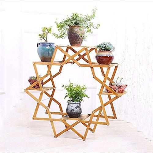 HORS Balcon En Bois Fleur Salon Intérieur Fleur Plante En Pot Européen Plancher En Bois Multi-étagère Râteliers multi-usages