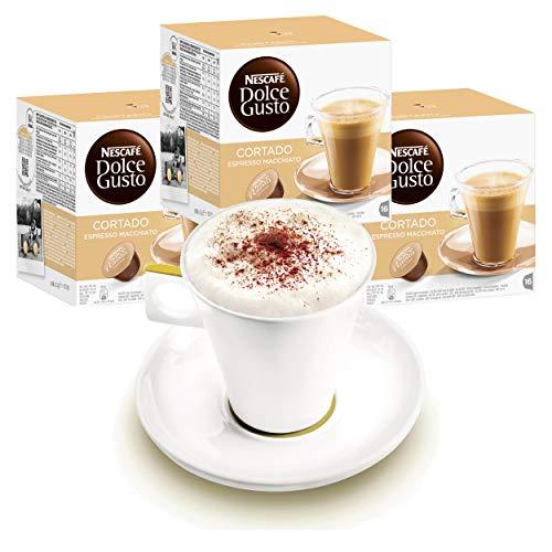 Nescafé DOLCE GUSTO Tassen Geschenkset, 3 Packungen mit Becher Cortado Espresso Macchiato, Kaffee, Kaffeekapsel, Kapseln