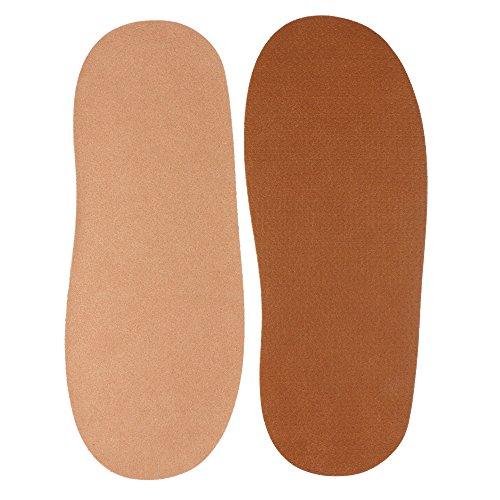 1 Paar Microfaser Decksohlen für Barfuß Schuhe Huarache Sandalen hautfreundlich und saugfähig (Veganes Leder)