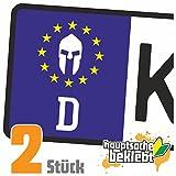 Spartaner - Krieger Kennzeichen Aufkleber Sticker Nummernschild - IN 15 Farben
